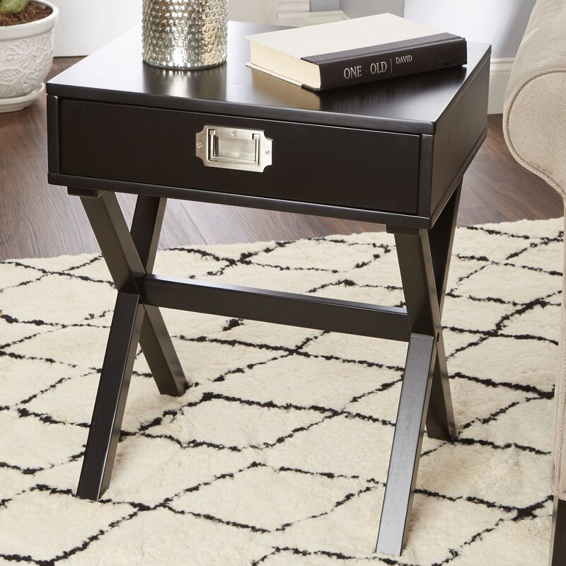 Charmant Curland Campaign End Table