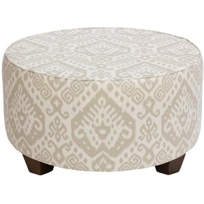 Flores Round Cocktail Upholstered Ottoman by Mistana