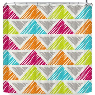 East Urban Home Julia Grifol Happy Triangles Shower Curtain