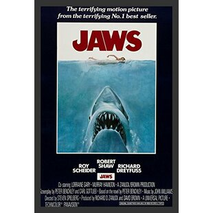 'Jaws' Movie Poster Framed Vintage Advertisement by Buy Art For Less