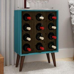 Kory 12 Bottle Floor Wine Cabinet and Dis..