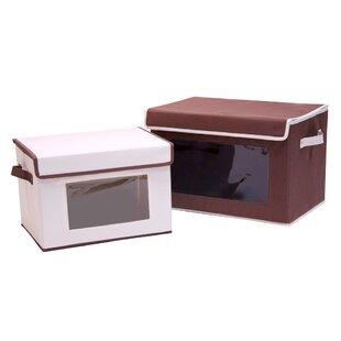 Deals 2 Piece Fabric Storage Box Set BySeville Classics