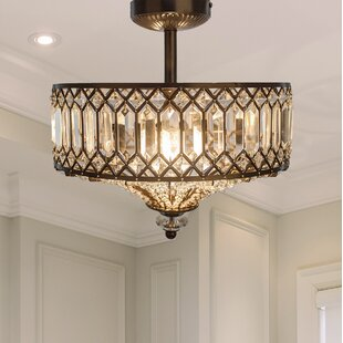 House of Hampton Moneta 2-Light Semi Flush Mount