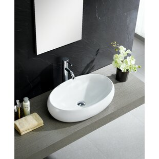 Best Reviews Modern Ceramic Oval Vessel Bathroom Sink By Fine Fixtures