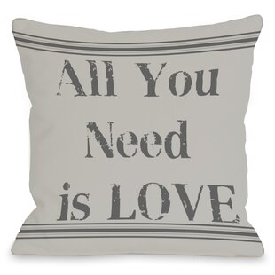 All You Need is Love Vintage Stripe Throw Pillow