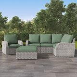 Killingworth Patio Sectional with Cushions by Rosecliff Heights