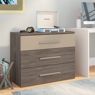 Read Reviews Jakes 3 Drawer Dresser by Brayden Studio