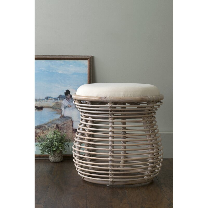 Renae Solid Wood Accent Stool Reviews Joss Main