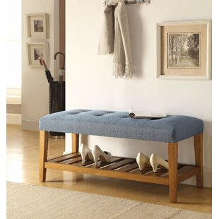 Wasinger Wooden Upholstered Bench by Millwood Pines