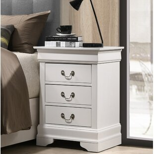 Lark Manor Lisle 3 Drawer Nightstand