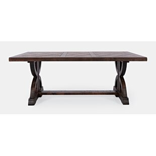 Macarthur Solid Wood Trestle Coffee Table By One Allium Way
