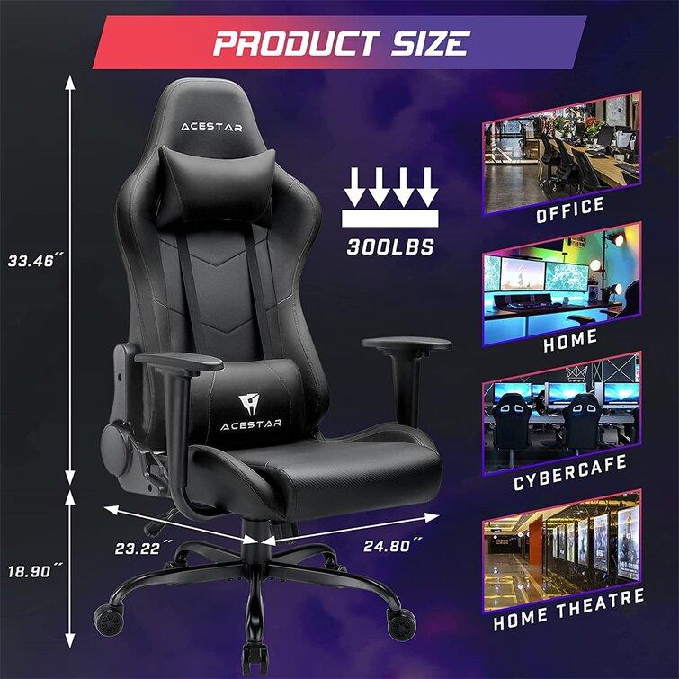 VITESSE Acestar Racing Style Gaming Chair, 300lbs Comfortable Pc