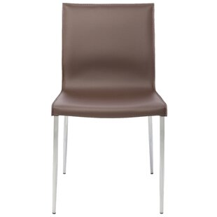 Colter Genuine Leather Upholstered Dining Chair