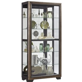 Beaty Slide Front 5 Shelf Locking Lighted Curio Cabinet by Rosdorf Park