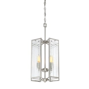 Belvidera 4-Light Square/Rectangle Pendant by Wrought Studio