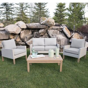 Bever Patio 4 Piece Deep Seating Group with Cushions