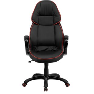 Symple Stuff Wolverton Leather Executive Chair
