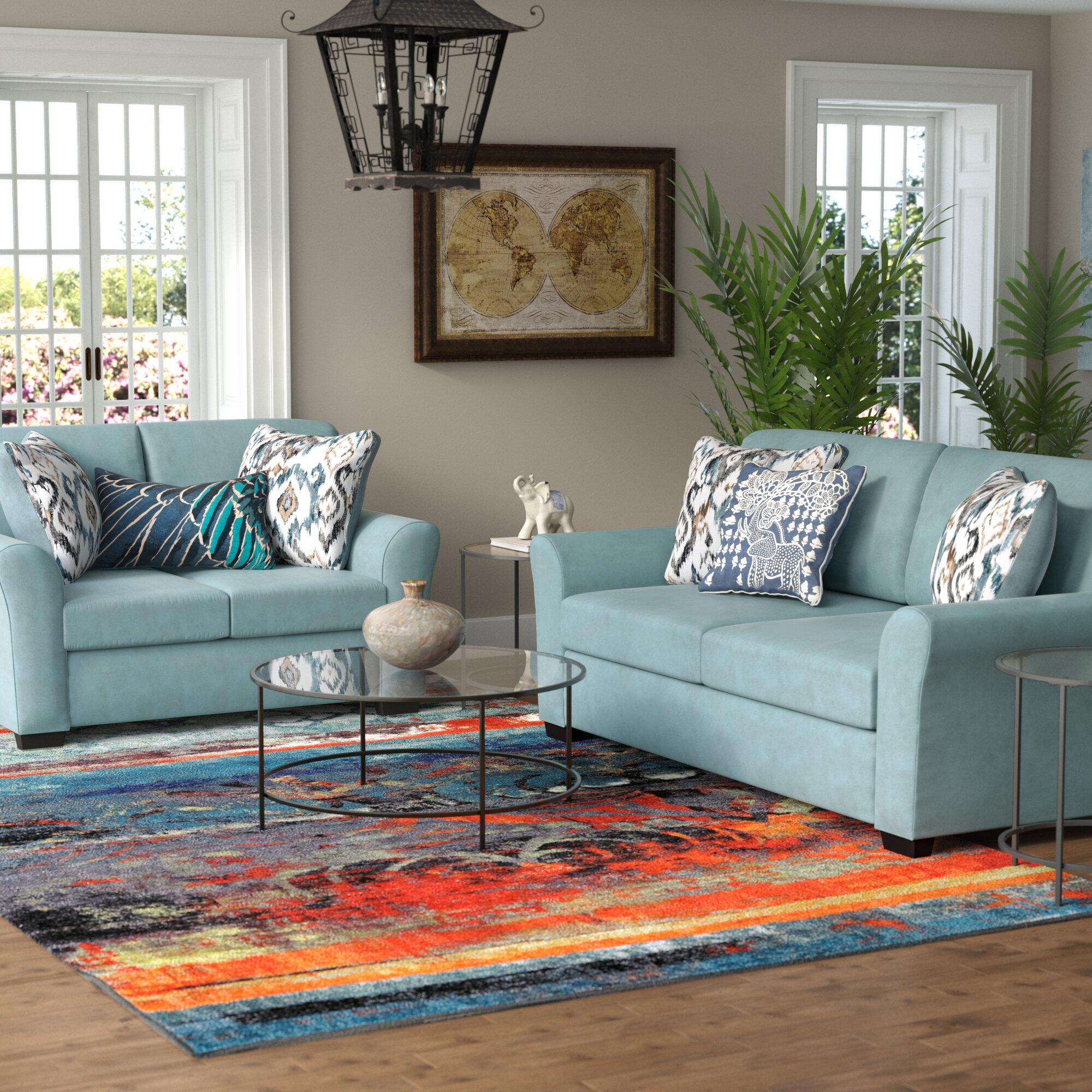 Beautiful World Menagerie Easthampton 2 Piece Living Room Set   Wayfair