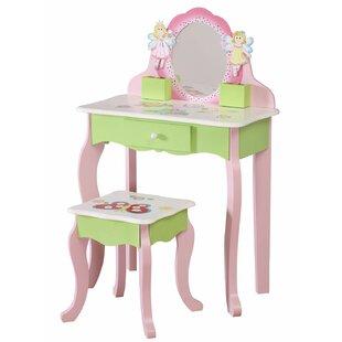 Watkins Childrens Vanity Table with Mirror by Zoomie Kids