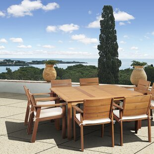 Beachcrest Home Stackpole 9 Piece Dining Set