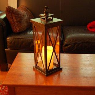 LumaBase Criss Cross Metal Lantern