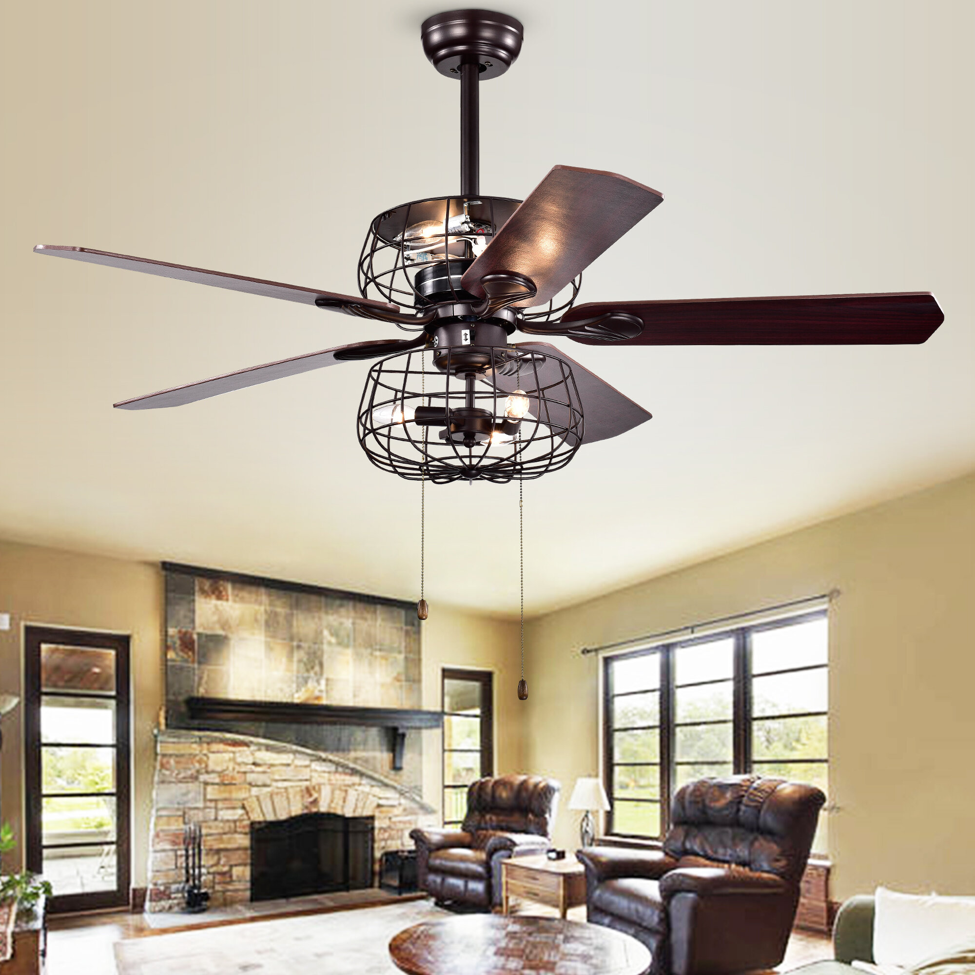 17 Stories Kaiya 5 Blade Ceiling Fan