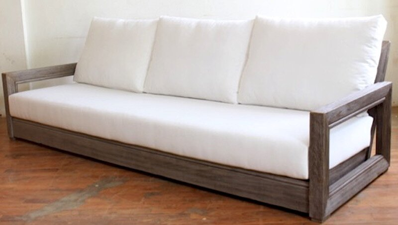 Merveilleux Constance Teak Outdoor Patio Sofa With Cushions