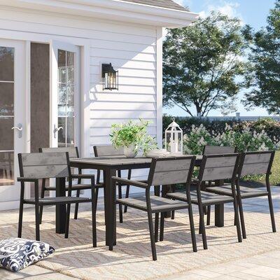 Windsor Outdoor Patio 7 Piece Dining Set by Sol 72 Outdoor No Copoun