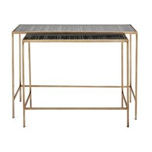 Kushner 2 Piece Console Table Set ByWrought Studio