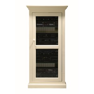 Glass Panel Door Audio Cabinet by World Menagerie