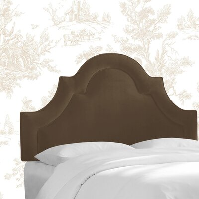 Kelly Clarkson Home McAfee Upholstered Panel Headboard  Size: Queen, Upholstery: Chocolate