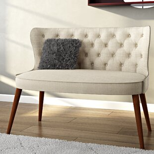 Read Reviews Sempronius Wood Upholstered Button-Tufting Loveseat by Gracie Oaks Reviews (2019) & Buyer's Guide