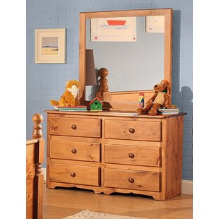 Chelsea Home Furniture Charlton 6 Drawer Double Dresser with Mirror