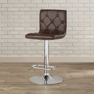 Clay Adjustable Height Swivel Bar Stool (Set of 2)