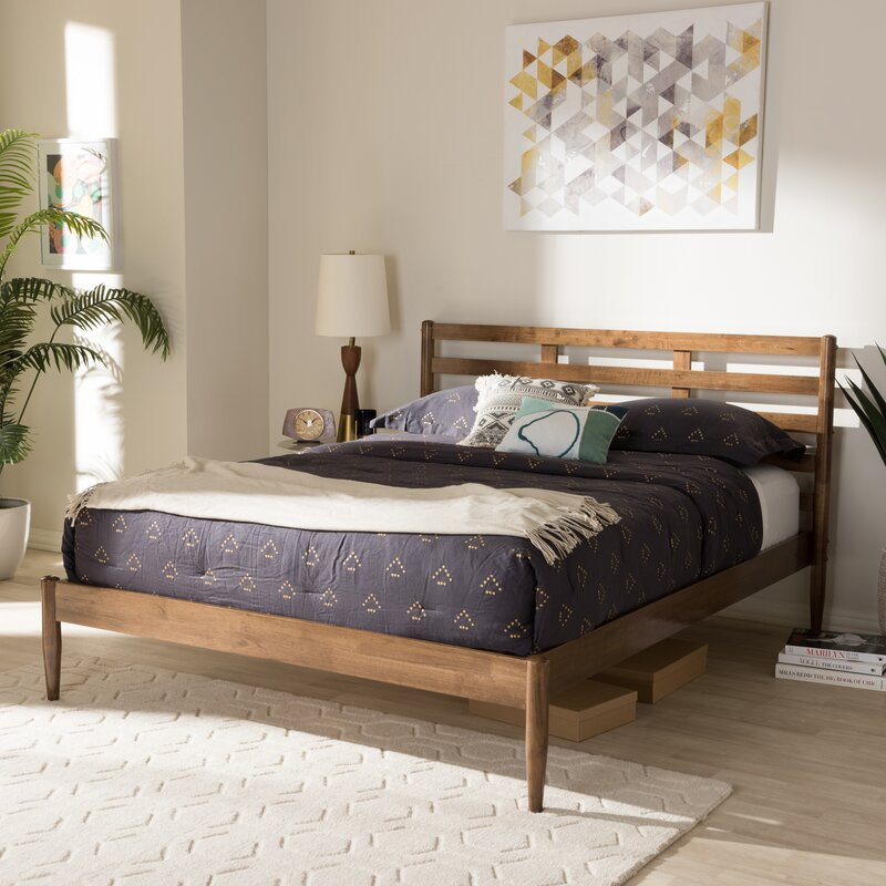 Best Mid-Century Modern Beds, Cool Modern Beds, Jamar Mid-Century Modern Platform Bed