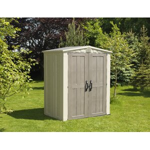 Factor 5 ft. 10 in. W x 3 ft. 9 in. D Plastic Tool Shed