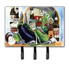 Eggplant and New Orleans Beers Key Holder by Caroline's Treasures