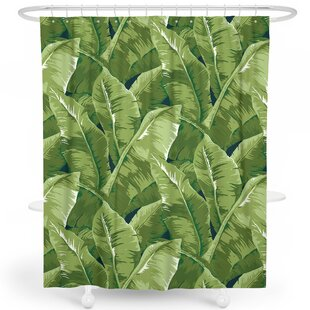 Gino Natural Palm Tree Tropical Leaf Single Shower Curtain