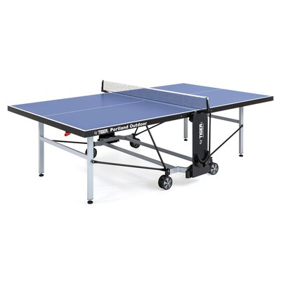 Portland Ping Pong Regulation Size Foldable Indoor/Outdoor Table Tennis Table TigerPingPong Finish/Color: Blue
