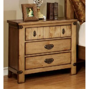 Street 3 Drawer Nightstand by Loon Peak