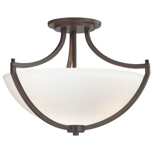 Parthena 3-Light Semi Flush Mount by Alcott Hill