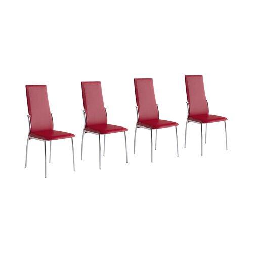 Esszimmerstuhl-Set Briallen Metro Lane Polsterfarbe: Rot | Küche und Esszimmer > Stühle und Hocker > Esszimmerstühle | Metro Lane