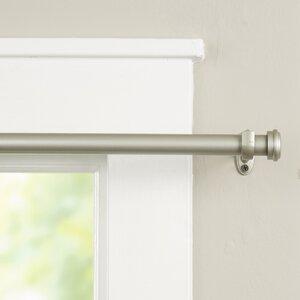 Wayfair Basics End Cap Single Curtain Rod & Hardware Set