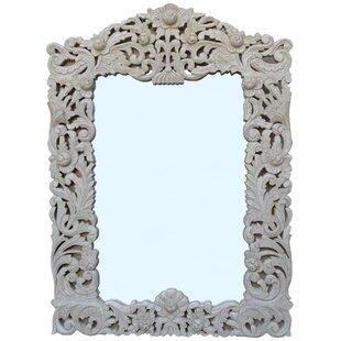 One Allium Way Bernhard Carved-Wood Accent Mirror