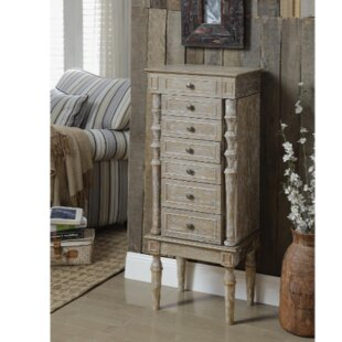 Ophelia & Co. Plainville Jewelry Armoire with Mirror