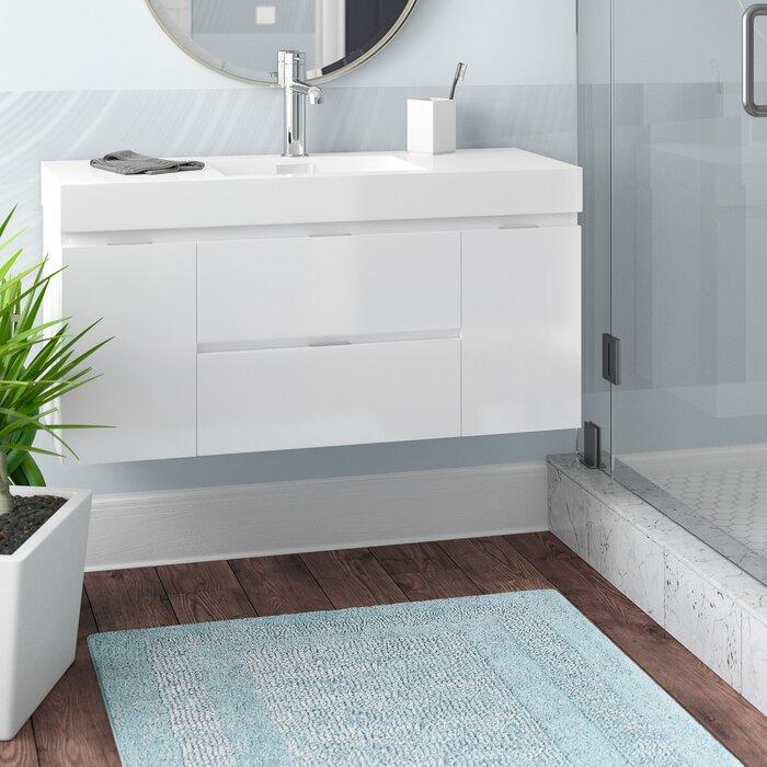 Wall Mount Bath Vanity.Tenafly 47 Wall Mounted Single Bathroom Vanity Set