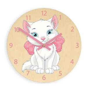 Azalea Cat 33cm Wall Clock By Zoomie Kids
