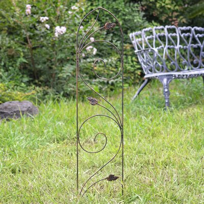 Arcadia Garden Products Autumn Leaf Metal Arched Trellis Size: 4'
