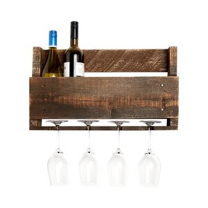 Kindred 4 Bottle Wall Mounted Wine Rac..