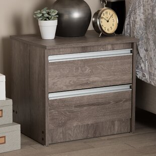 Reviews Choe 2 Drawer Nightstand by Union Rustic